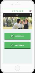 製品カタログアプリ
